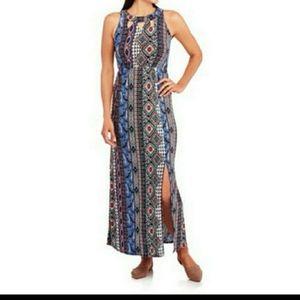 French Laundry Boho Halter Maxi Dress Plus Size